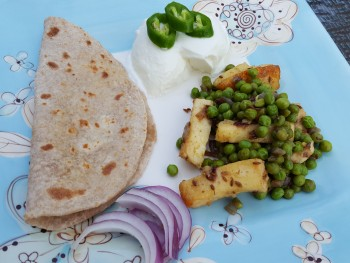 Indian Inspired Green Peas And Paneer