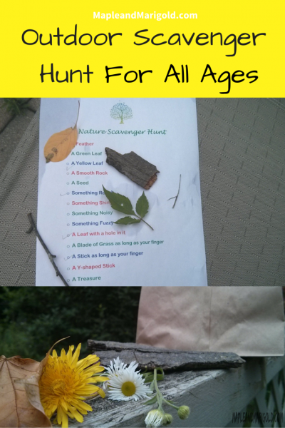 Creating an Outdoor Scavenger Hunt | Keeping kids active | Outdoor Play | Nature Play | Summer Activities