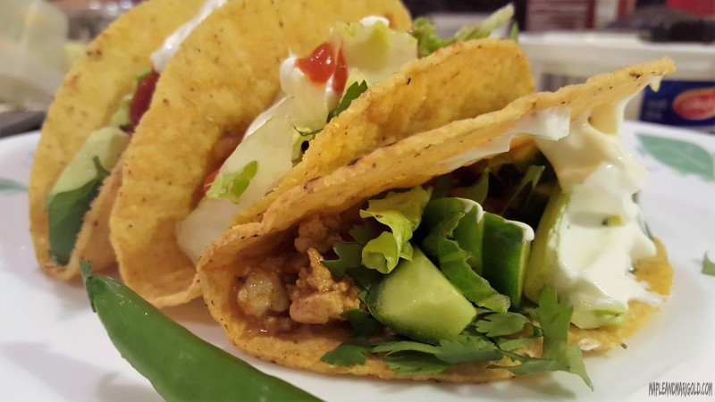 Mexican Chicken Taco Recipe | Easy weeknight recipe | Chicken MapleandMarigold.com
