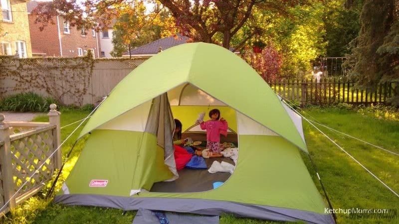 Backyard Camping with Kids   Kids Activities   utdoors with Kids   Canada Day Activities   MapleandMarigold.com