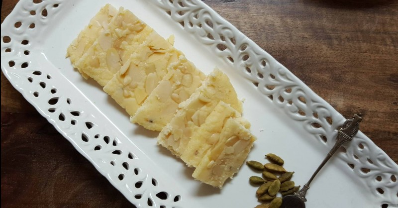 Easy 3 ingredient Indian dessert | Ricotta Burfi | Ricotta Almond fudge