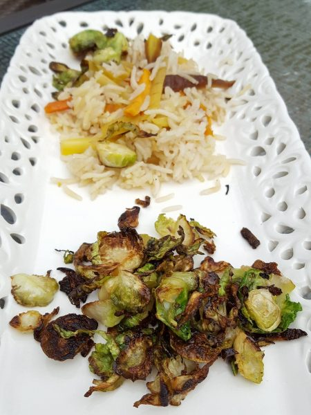 Vegetarian Pilaf with farm fresh root vegetables topped with crunchy Brussels Sprouts | Meatless Mondays | quick and easy rice dish Weeknight Dinner | Kid Approved One-Pot Meals | #KidsWillEatThis | CANRecipe | MapleandMarigold.com