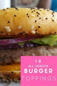 19 All-Season Homemade Burger Toppings