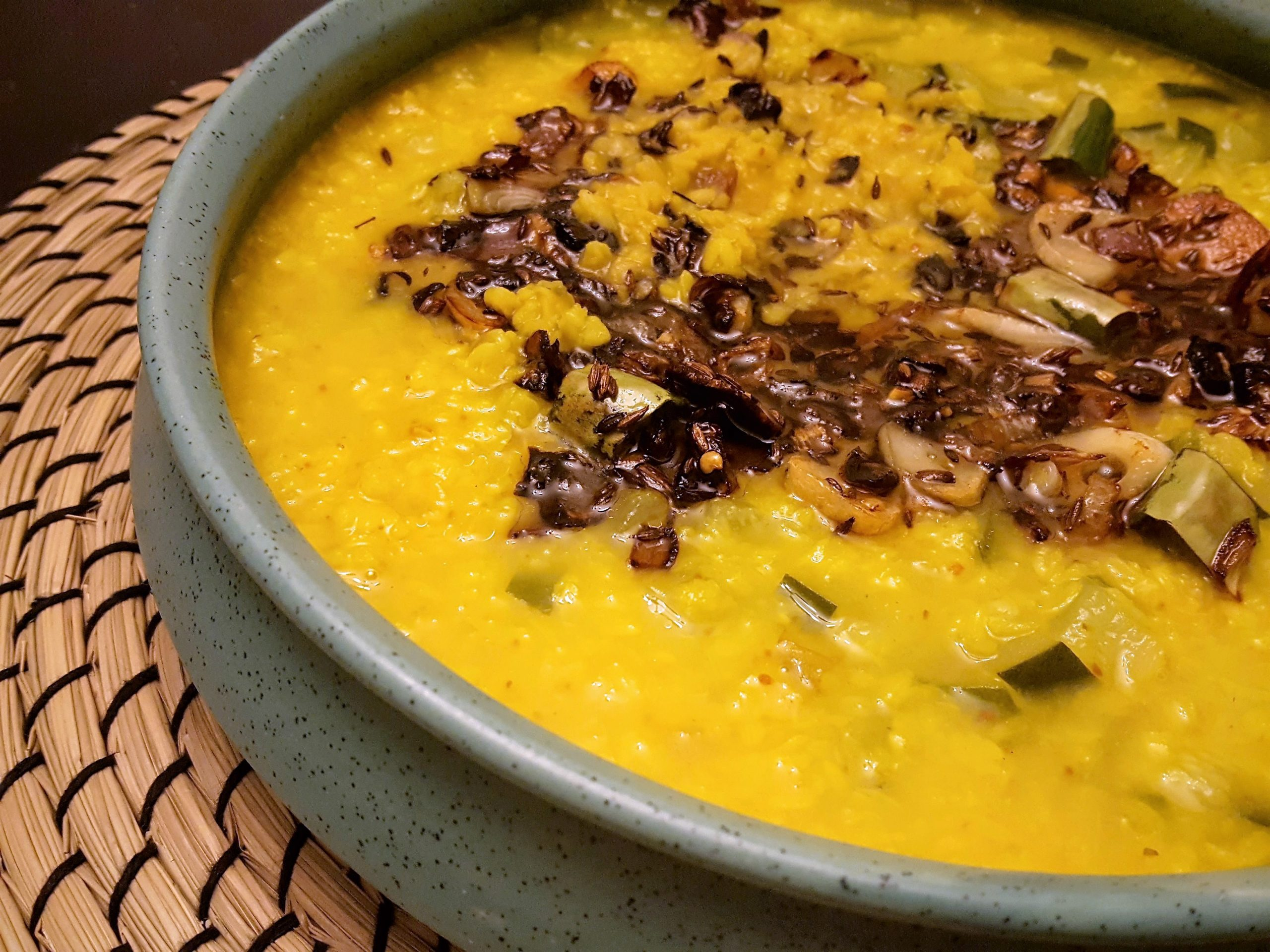 Indian Lentil Soup - Moong Dal With Zucchini, burnt garlic and crisp onions | Fall Comfort Food | Vegetarian | #CANRecipe | #MeatlessMonday | | High Protein | Quick and Easy Weeknight Dinner