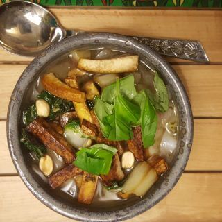Vietnamese Pho with Tofu   Healthy Soup REcipe   Winter comfort in a Bowl   Maple and Marigold
