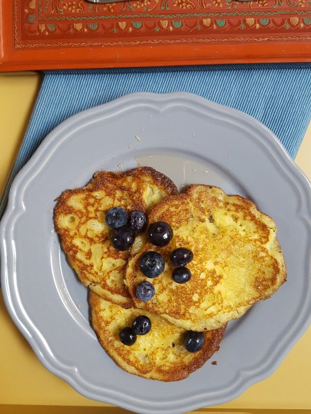 Coconut and Cornmeal Pancakes | Pancake Tuesday | Gluten-free, wheat-free pancakes | Breakfast of champions | Maple and Marigold