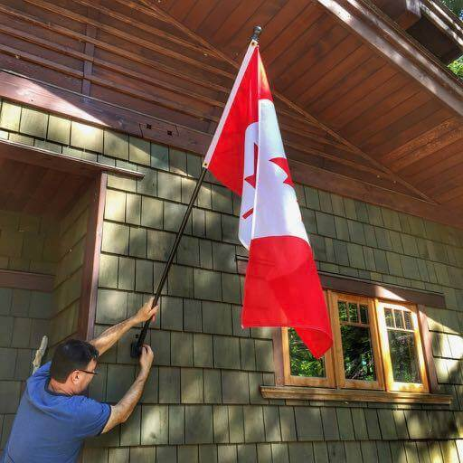 Alison Pentland | Off the Porch | Canada Flag Etiquette | Do's and don't's of flying the Canadian Flag | Canada 150 | Canada Day