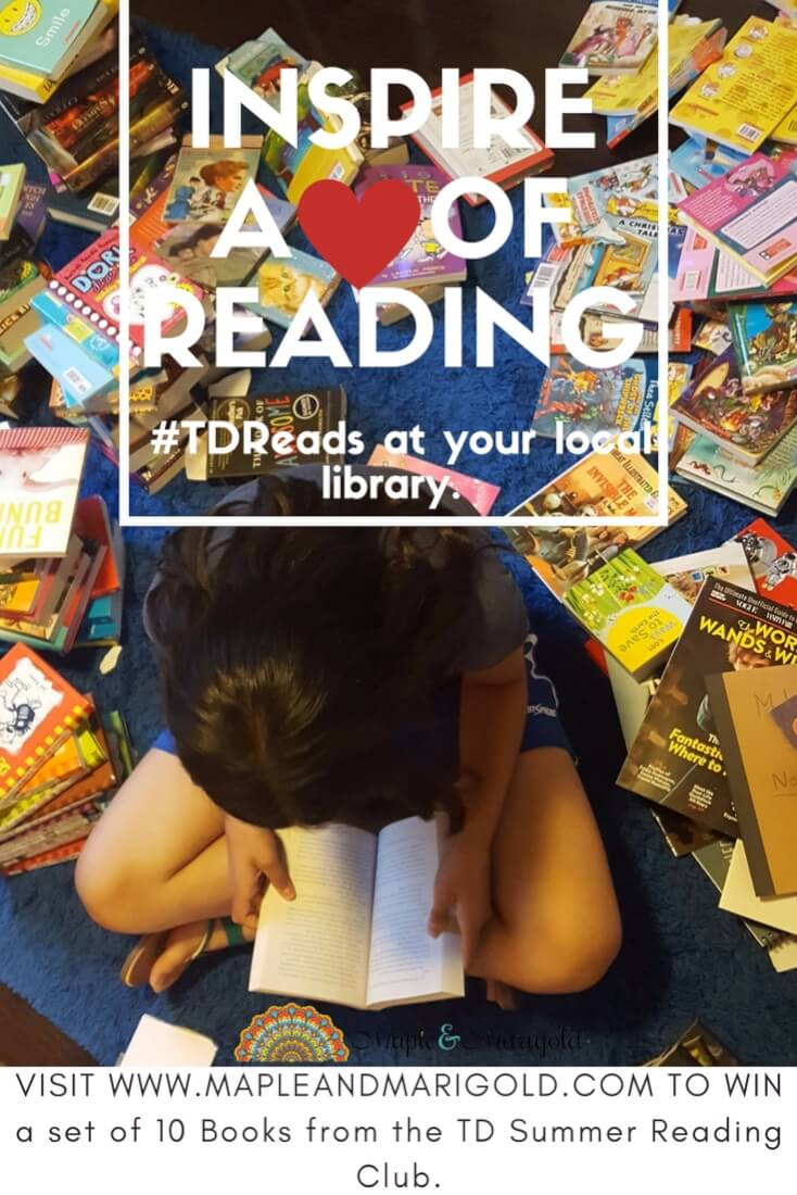 Inspire a love of reading | #TDReads | TD Summer Reading Club | MapleandMarigold.com
