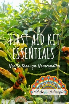 Essentials for your summer first aid kit | Homeopathy | Sponsored | MapleandMarigold.com