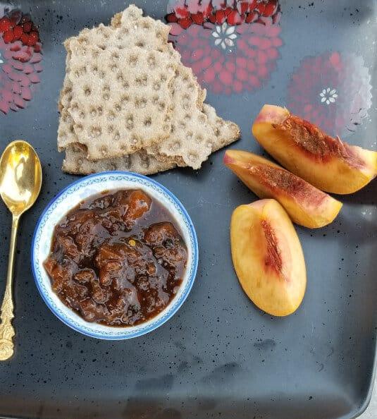 Peach Chutney recipe | Summer fruits | Delicious condiments | Maple and Marigold.com