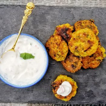 Red Lentil fritter with turmeric and broccoli | Crispy lentil fritter recipe | Maple and Marigold