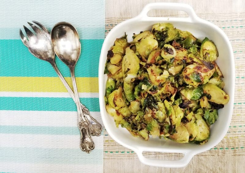Healthiest (and most dleicious) way to cook brussels sprouts | Eat your vegetables | Half your plate | Maple and Marigold