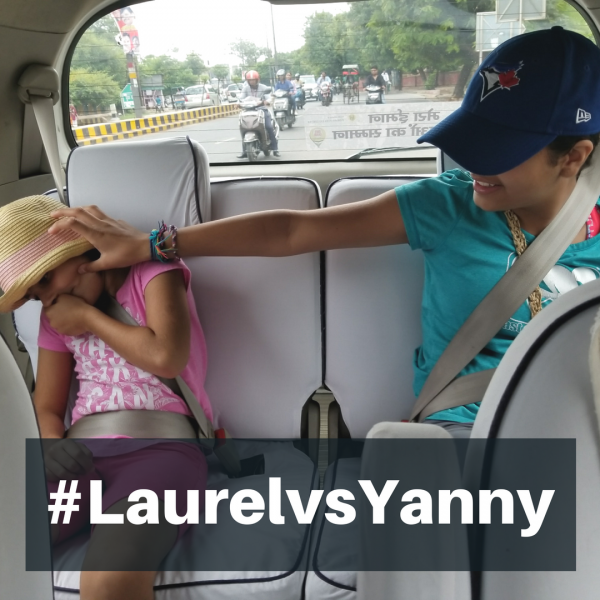 #LaurelvsYanny | Team Yanny vs.Team Laurel | Keeping the kids engaged in the car | Maple and Marigold