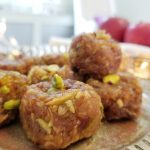 Saffron-infused Rustic Apple Peda | Indian sweet with a Canadian twist