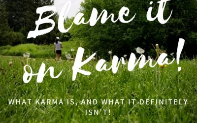 Karma is going to get you: this and other illusions of being in control
