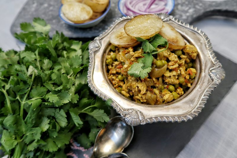 Turkey Keema Matar Recipe | India-style Ground Turkey with peas | Festive Meals | Delicious Dinners | Maple and Marigold