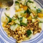 Spicy cucumber curry salad | Summer on a plate | Curry Salad recipe | MapleandMarigold.com