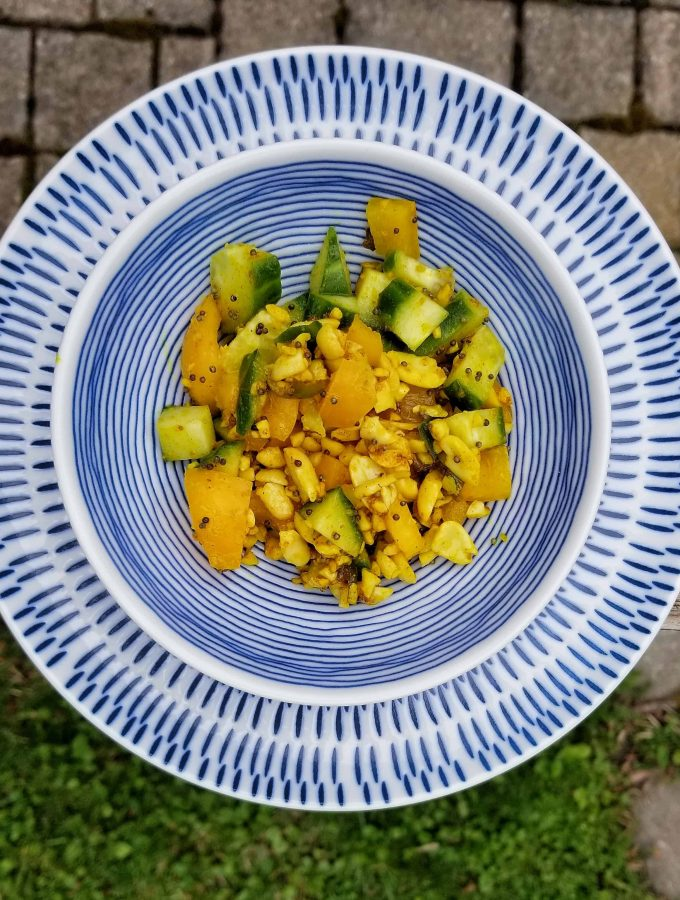 Spicy cucumber curry salad   Summer on a plate   Curry Salad recipe   MapleandMarigold.com