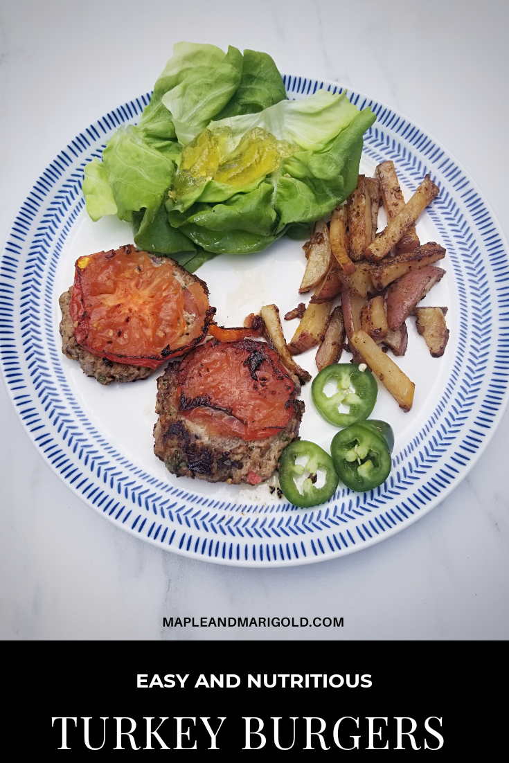 Juicy and homemade turkey burgers | All-season burgers | Healthy turkey recipe  MapleandMarigold.com