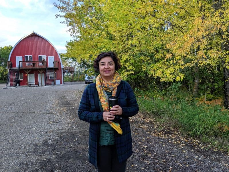 Where does your food come from? Puneeta at Barn in the Bush, Russell, Manitoba