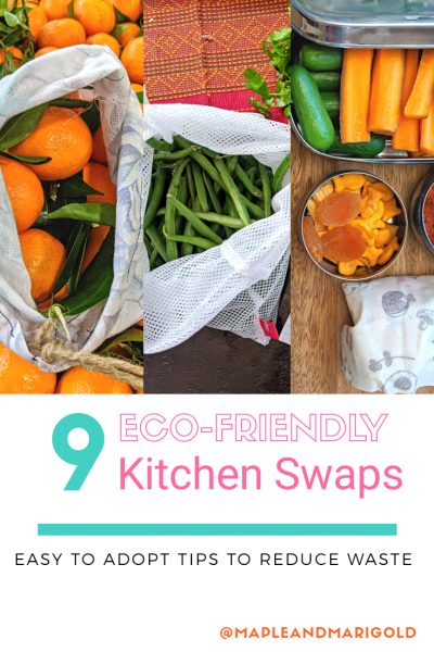 9 Sustainable Kitchen Swaps   Eco-friendly tips to reduce waste   Use this not that   Maple and Marigold