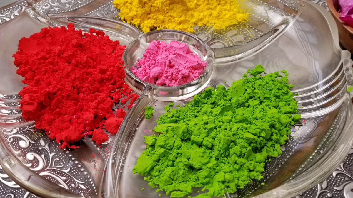 Celebrating Holi - the festival of colours with gulal