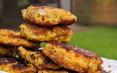 Golden Salmon Patties with Oats