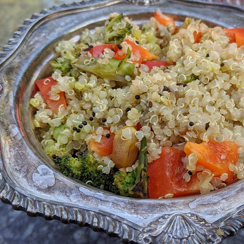 Seriously Delish Quinoa Salad Recipe | Good Mood Foods | Maple and Marigold