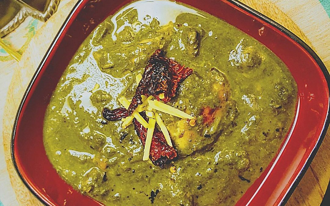 Indian Spinach and Chicken Curry {Saag Chicken}