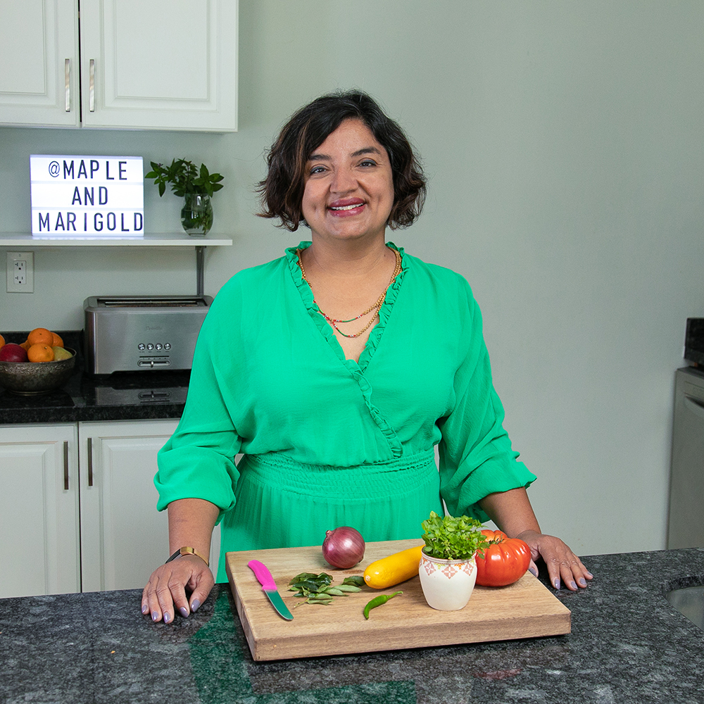 Puneeta in her kitchen | Maple and Marigold